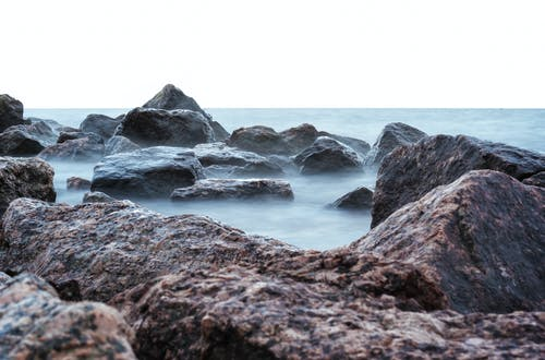Základová fotografie zdarma na téma granit, kameny, mlha, moře