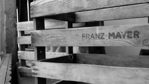 Franz Mayer Engraved Wooden Pallet