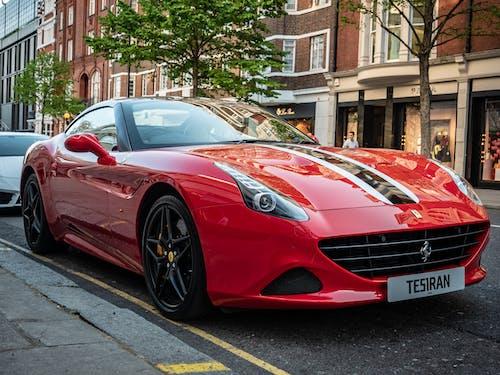 Základová fotografie zdarma na téma červené auto, Ferrari, ferrari california, kabriolet