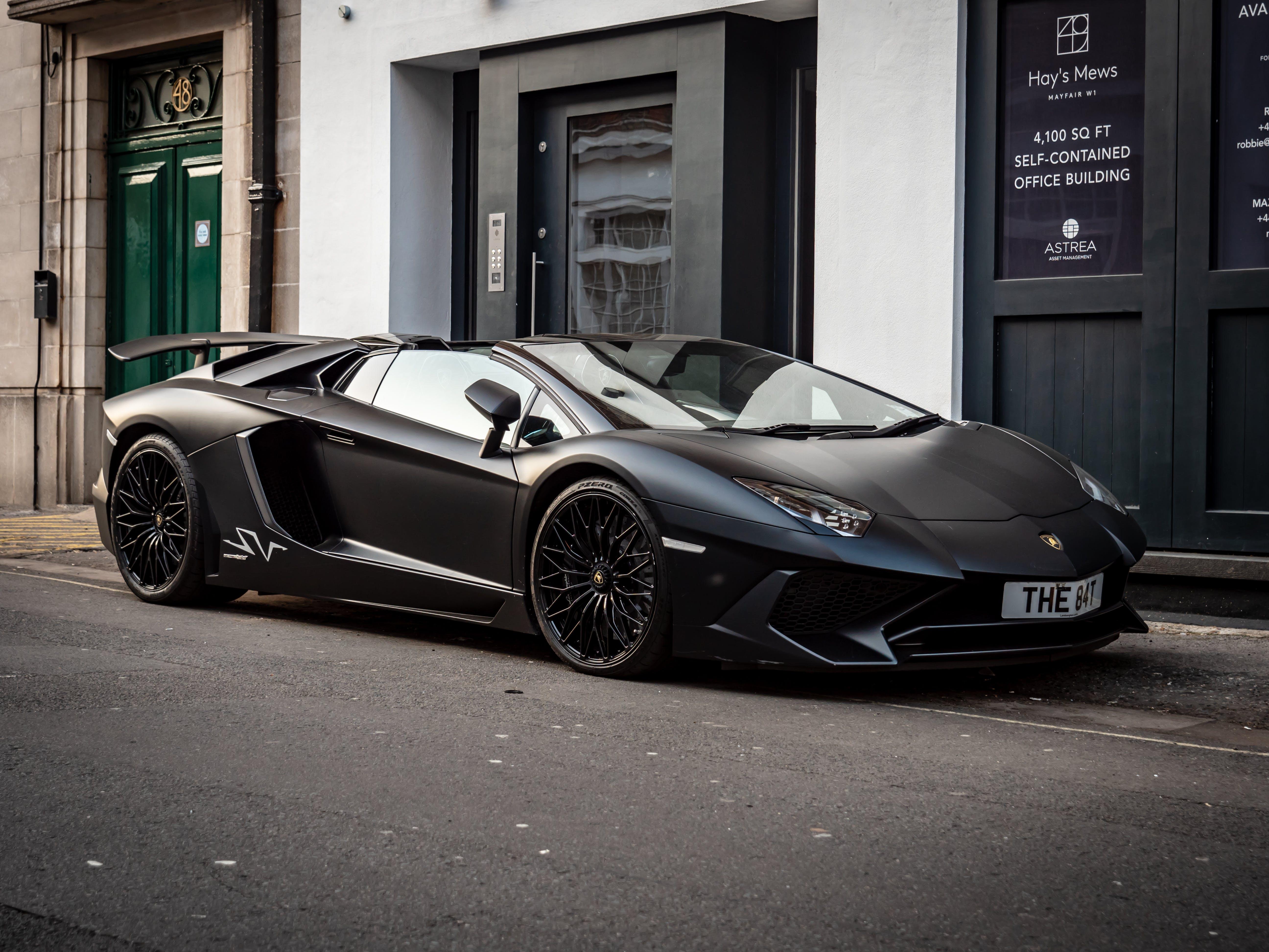Free stock photo of black car, cabrio, convertible, Lamborghini