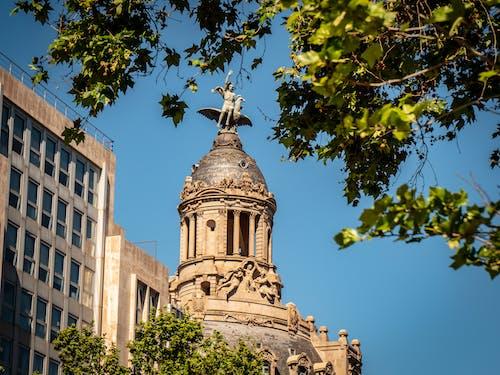 Foto stok gratis bangunan terkenal, langit biru, patung, patung monumental