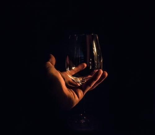 Gratis lagerfoto af glas, hånd