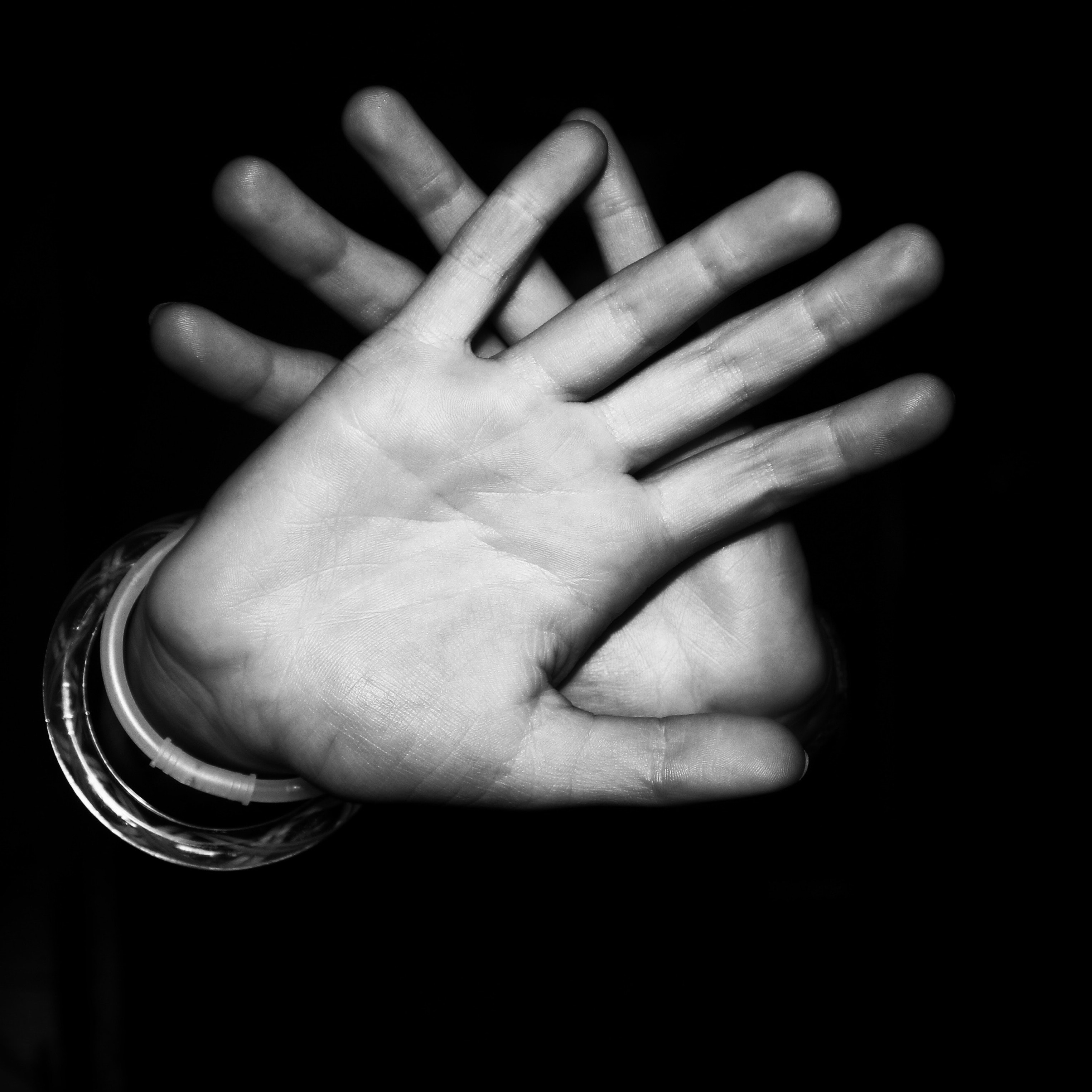 Black And White Photography Of Hands