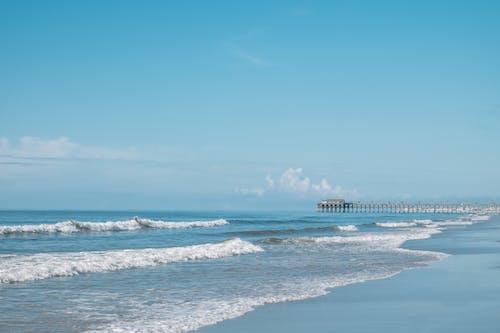 Free stock photo of beach, beautiful, blue, pier
