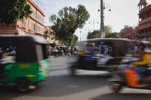 asya sokağı, kalabalık cadde, Tuk Tuk içeren Ücretsiz stok fotoğraf
