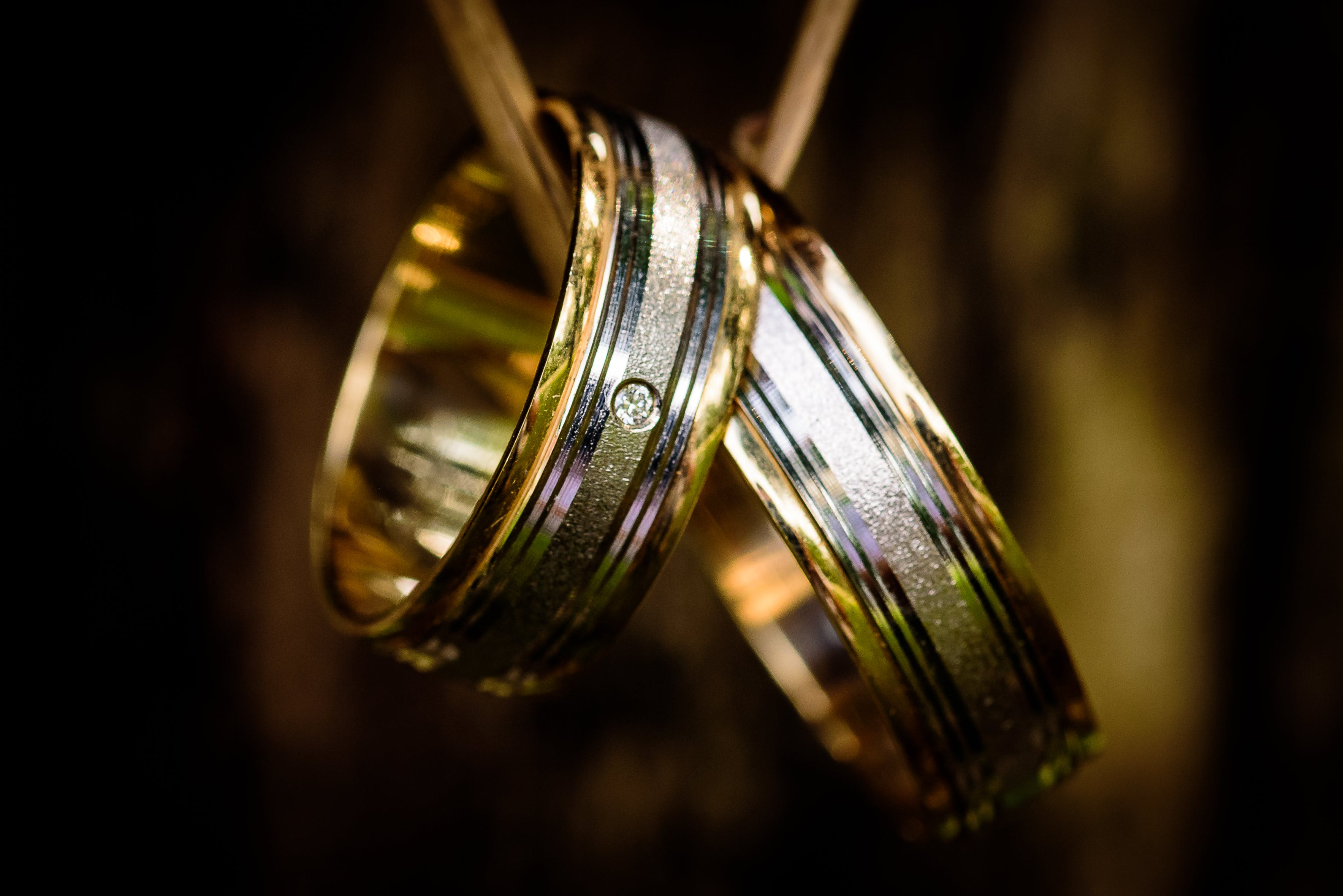 Silver and Gold Couple Ring