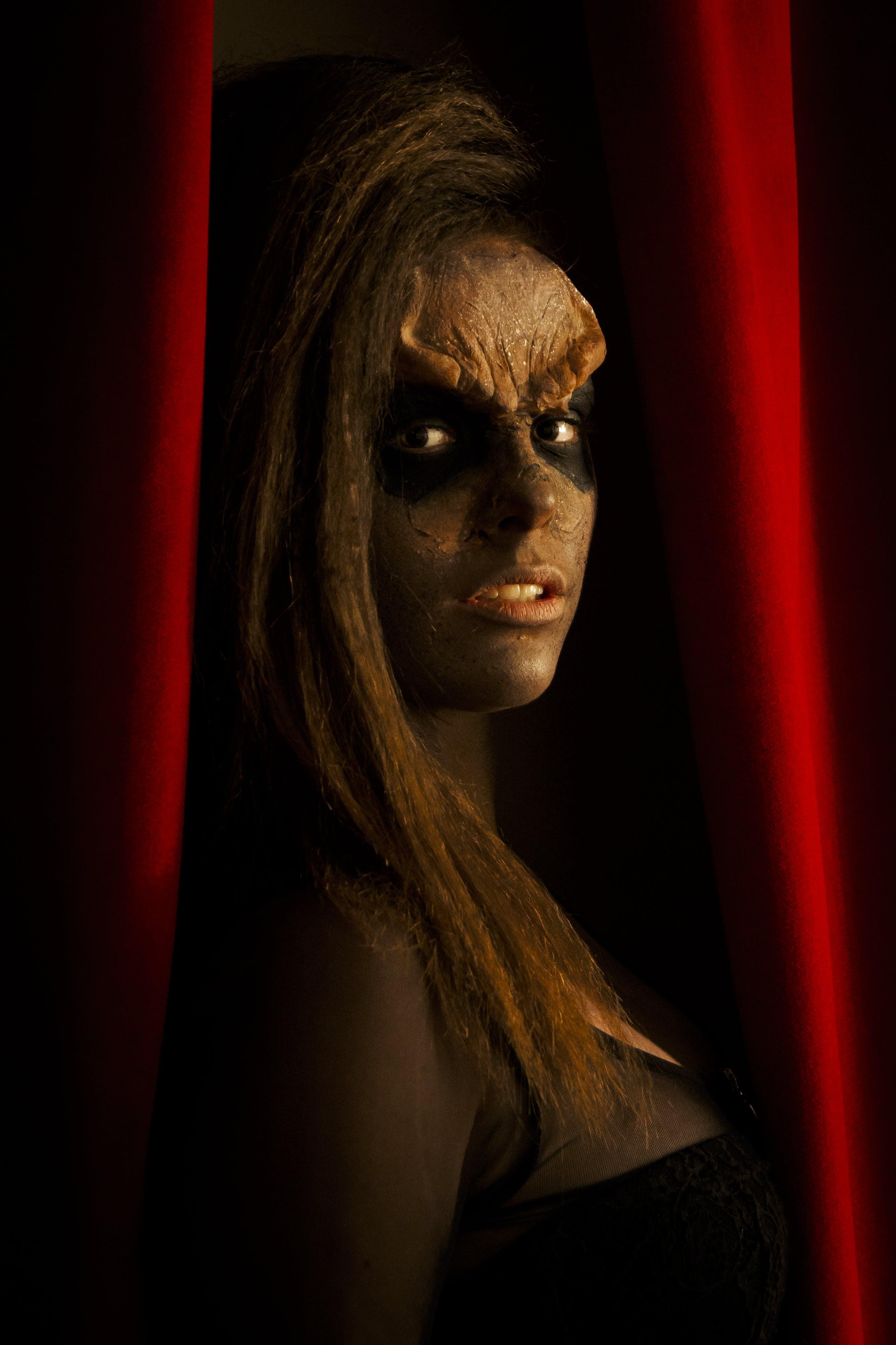Free stock photo of face paint, body paint, star trek, klingon