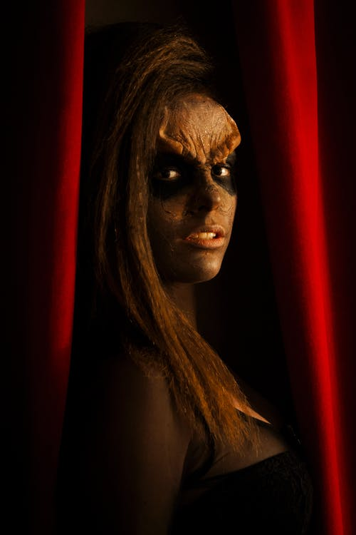 Free stock photo of body paint, face paint, klingon, star trek