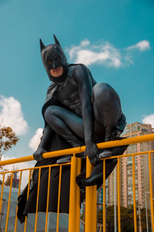Low Angle Photo of Man Wearing Batman Costume