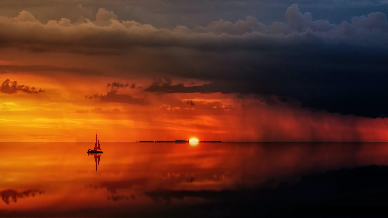 Foto stok gratis air, alam, awan, awan gelap