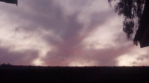 Foto profissional grátis de céu, céu azulado, lilás, paisagem