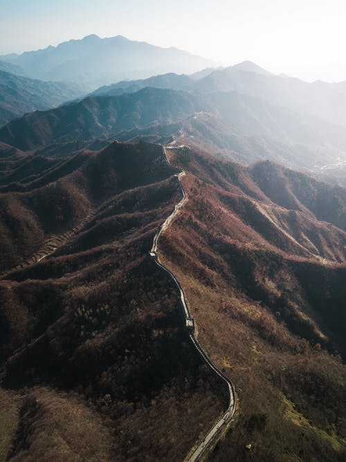 Drone Photography of the Great Wall of China
