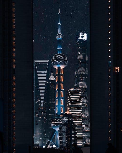 คลังภาพถ่ายฟรี ของ การท่องเที่ยว, การเดินทาง, ตอนเย็น, ตึก