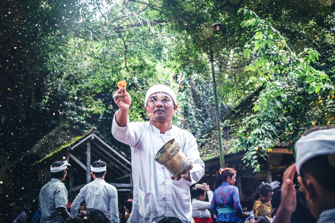 Man Doing A Ritual