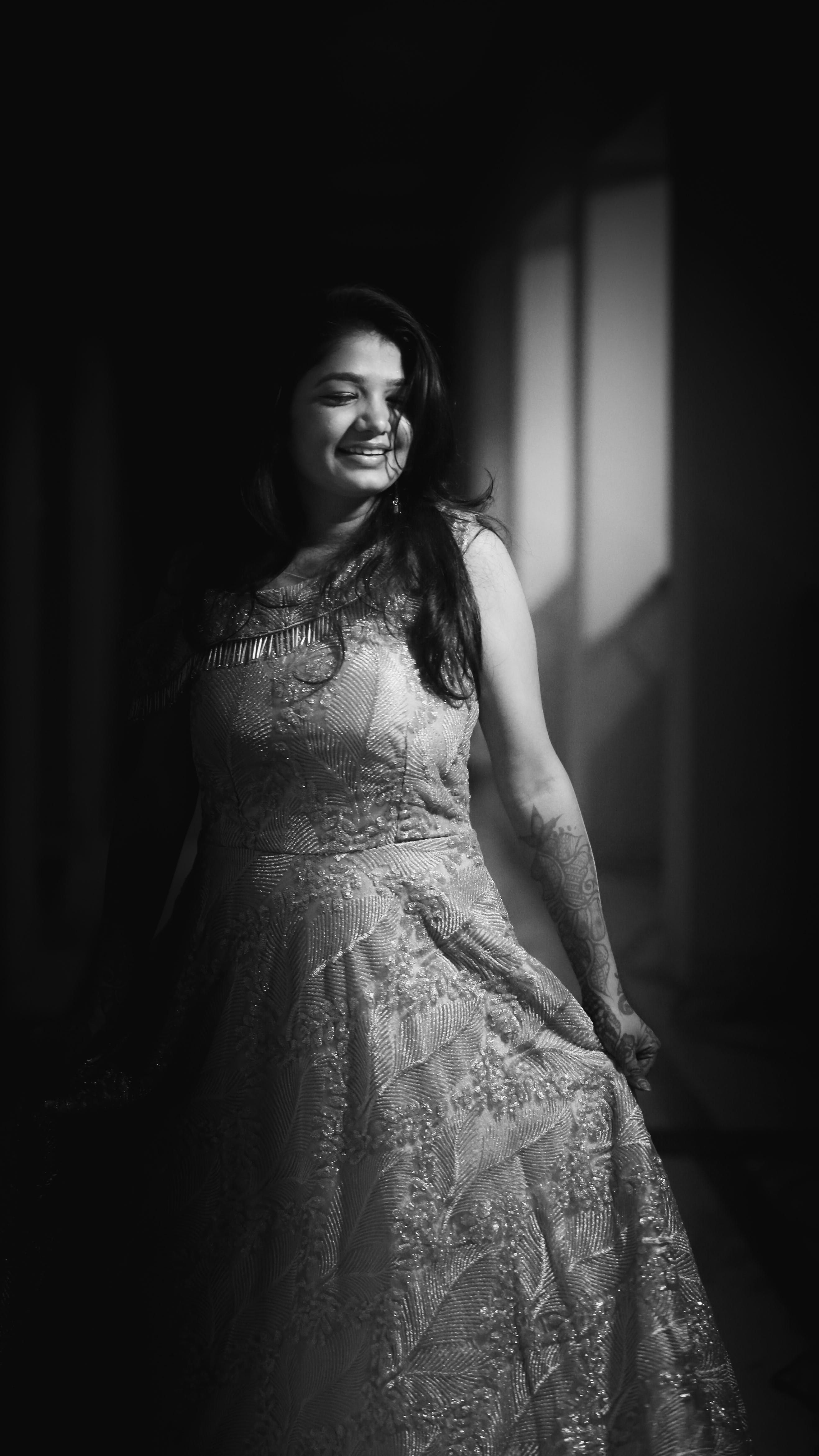 Gratis lagerfoto af #models, Canon, grå skala, indisk pige