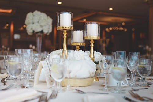 Selective Focus Photo of Table Centerpiece