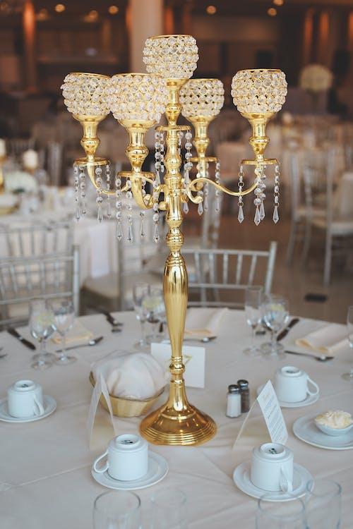 Arany, asztalterítő, bankett