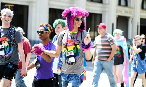 A Crowd in a Pride Parade