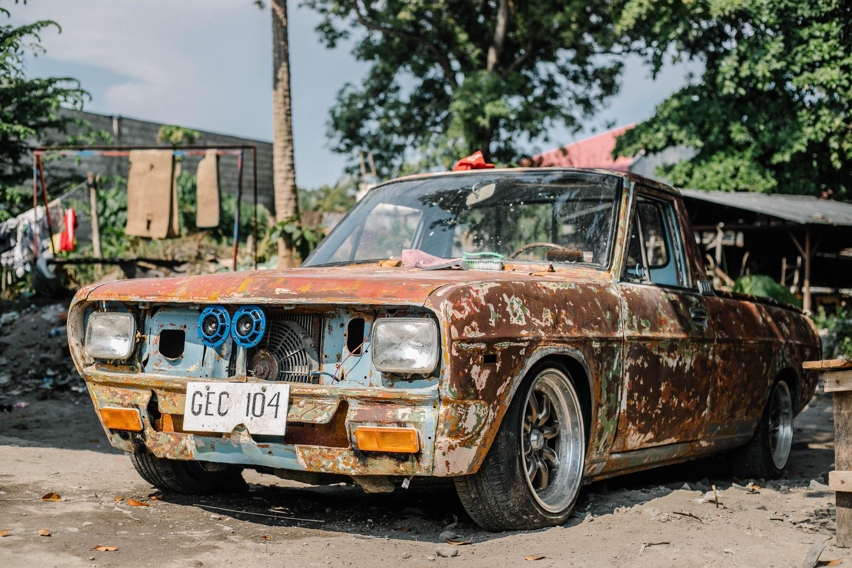 Gratis lagerfoto af klassisk bil, rusten