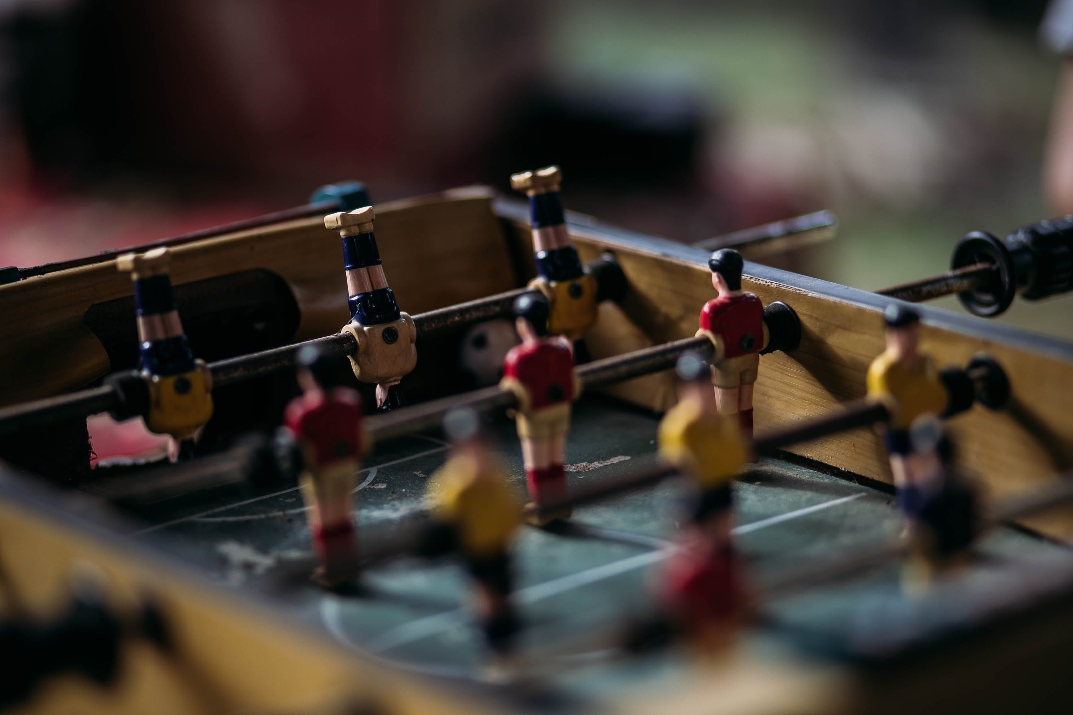 Close-up Photography of table football