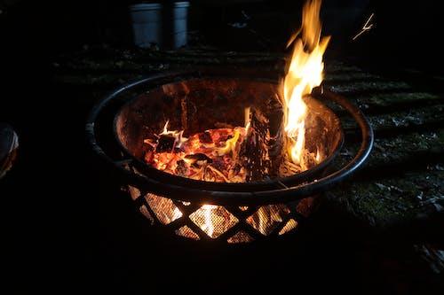Základová fotografie zdarma na téma hořet, ohniště, plamen, uhlík