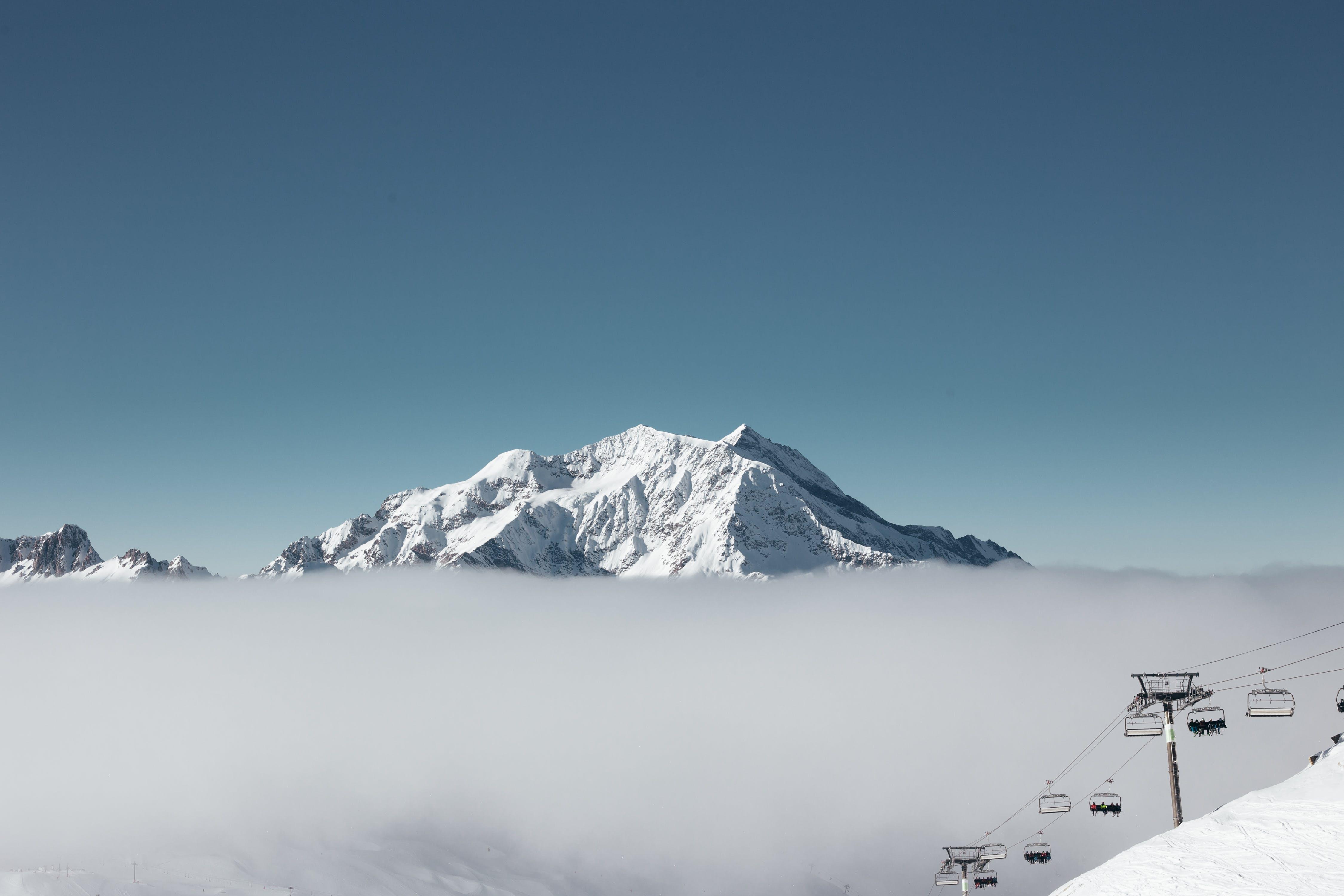 Gratis lagerfoto af bjerg, bjerge, bjergtinde, blå