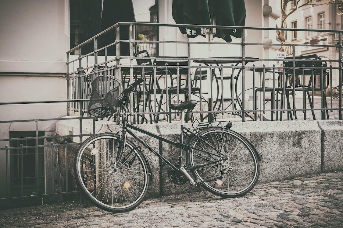borde, bygning, cykel