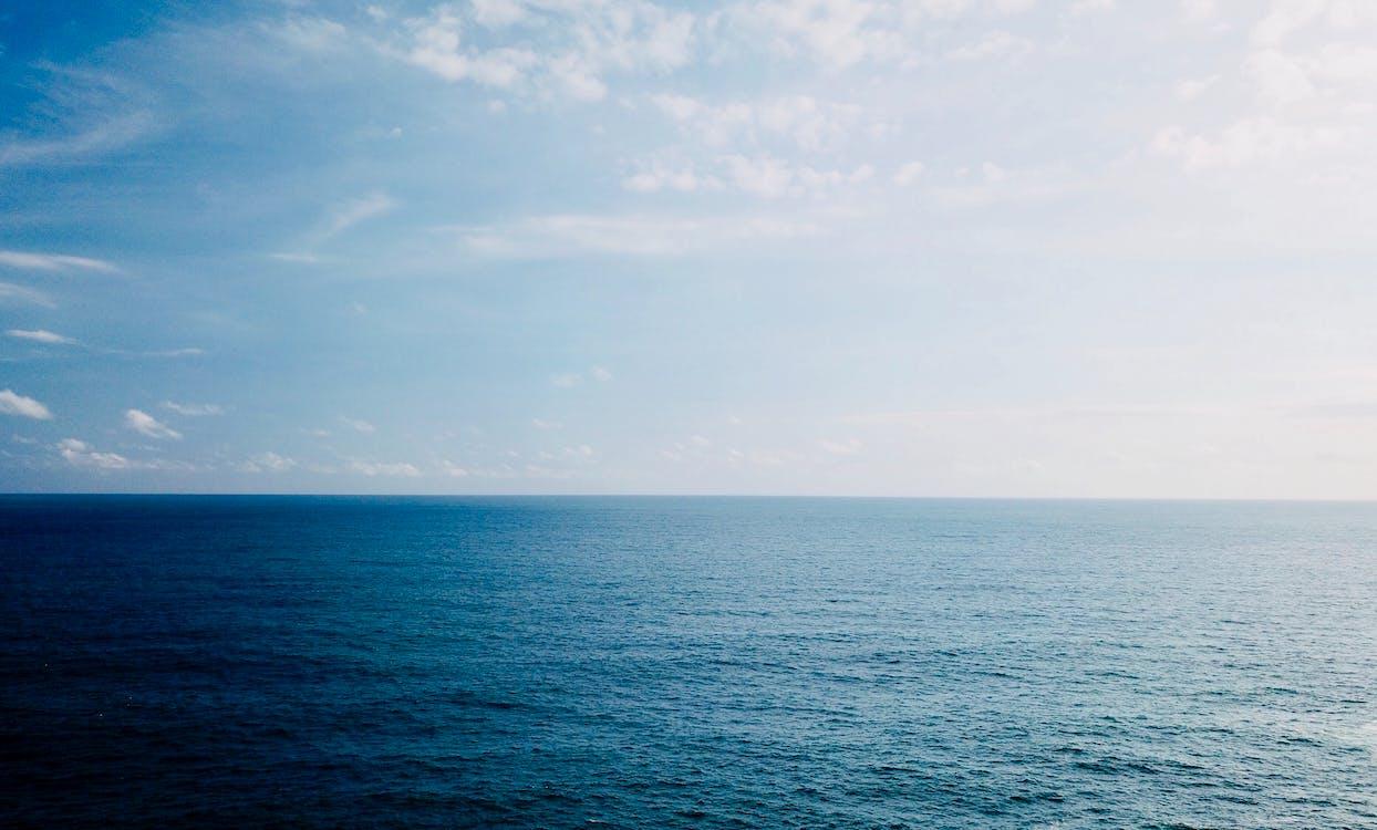 aallot, horisontti, luonto