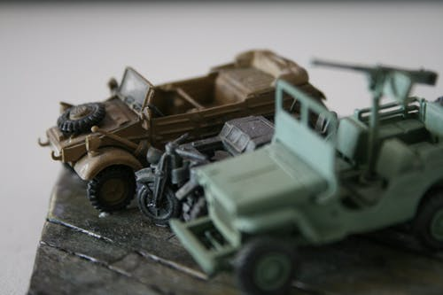 Free stock photo of army, car model, selfmade