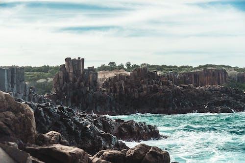 Foto d'estoc gratuïta de bombo, cel blau, oceà, paisatge