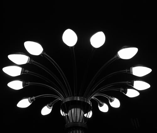 Free stock photo of greyscale, lamp, monochrome