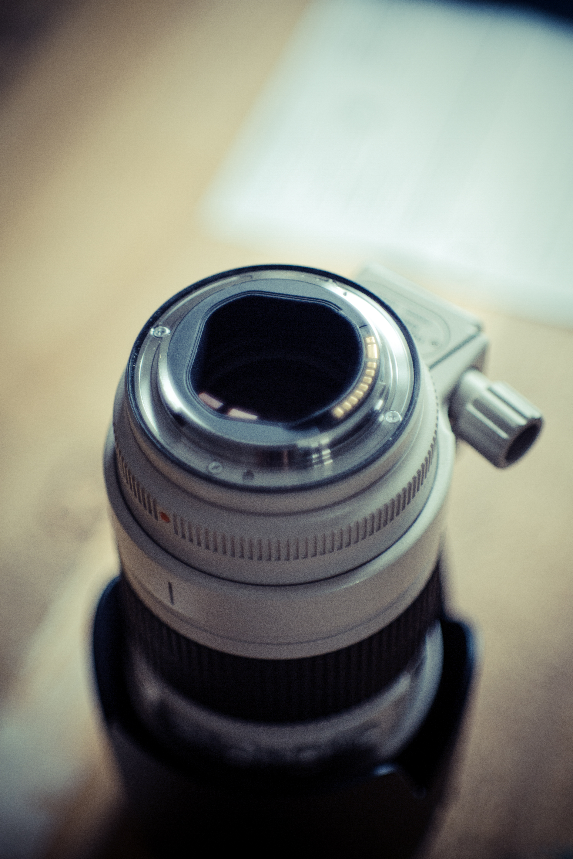 Gray and Black Camera Lens