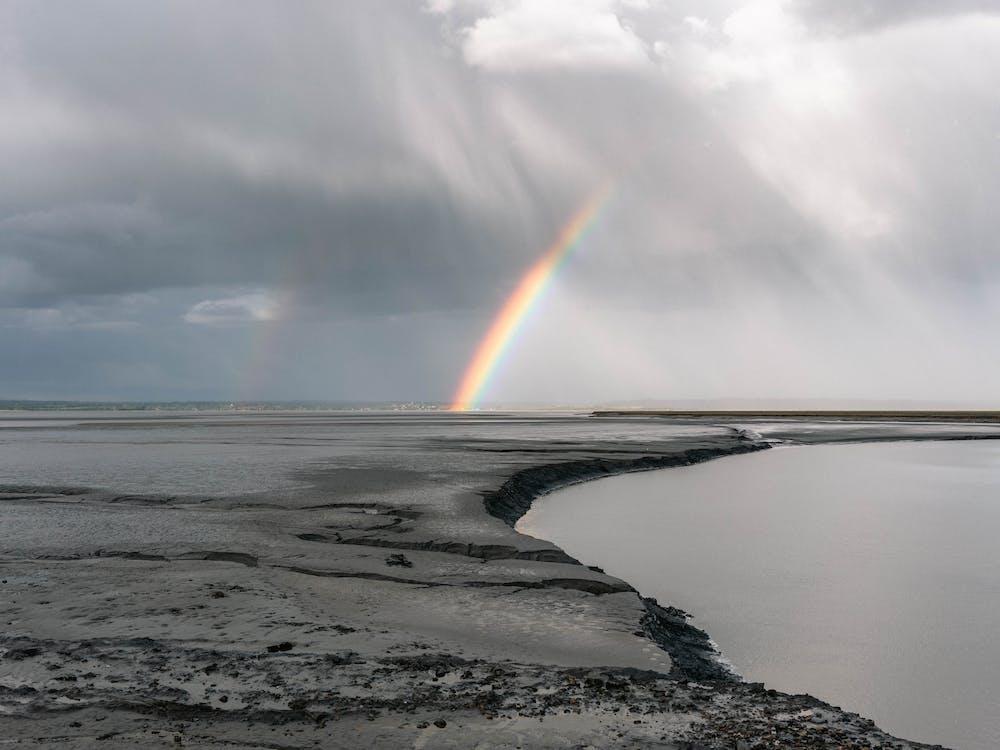 Immagine gratuita di acqua, alba, arcobaleno