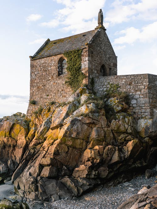 คลังภาพถ่ายฟรี ของ mont saint michel, กลางวัน, กลางแจ้ง, การท่องเที่ยว