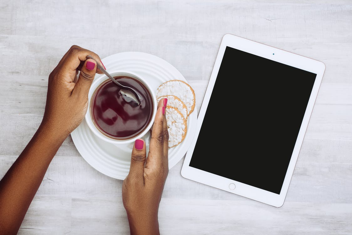 iPad, กาแฟ, คุ้กกี้