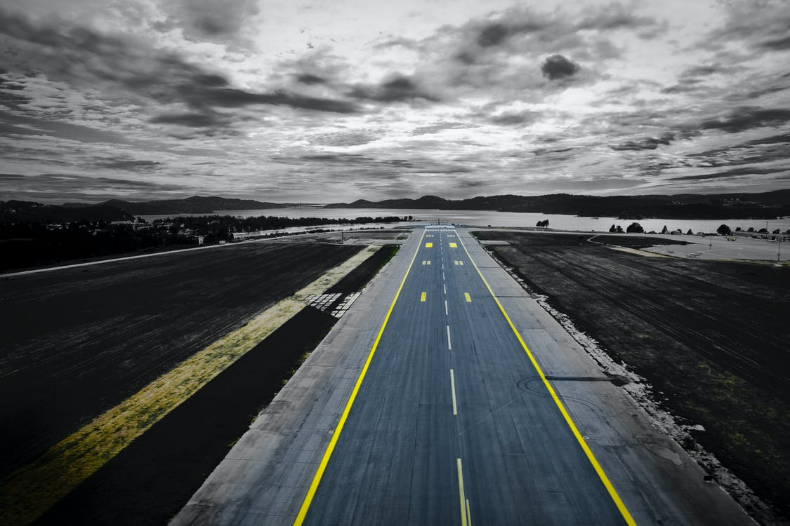 Aerial Photography of Grey Concrete Road