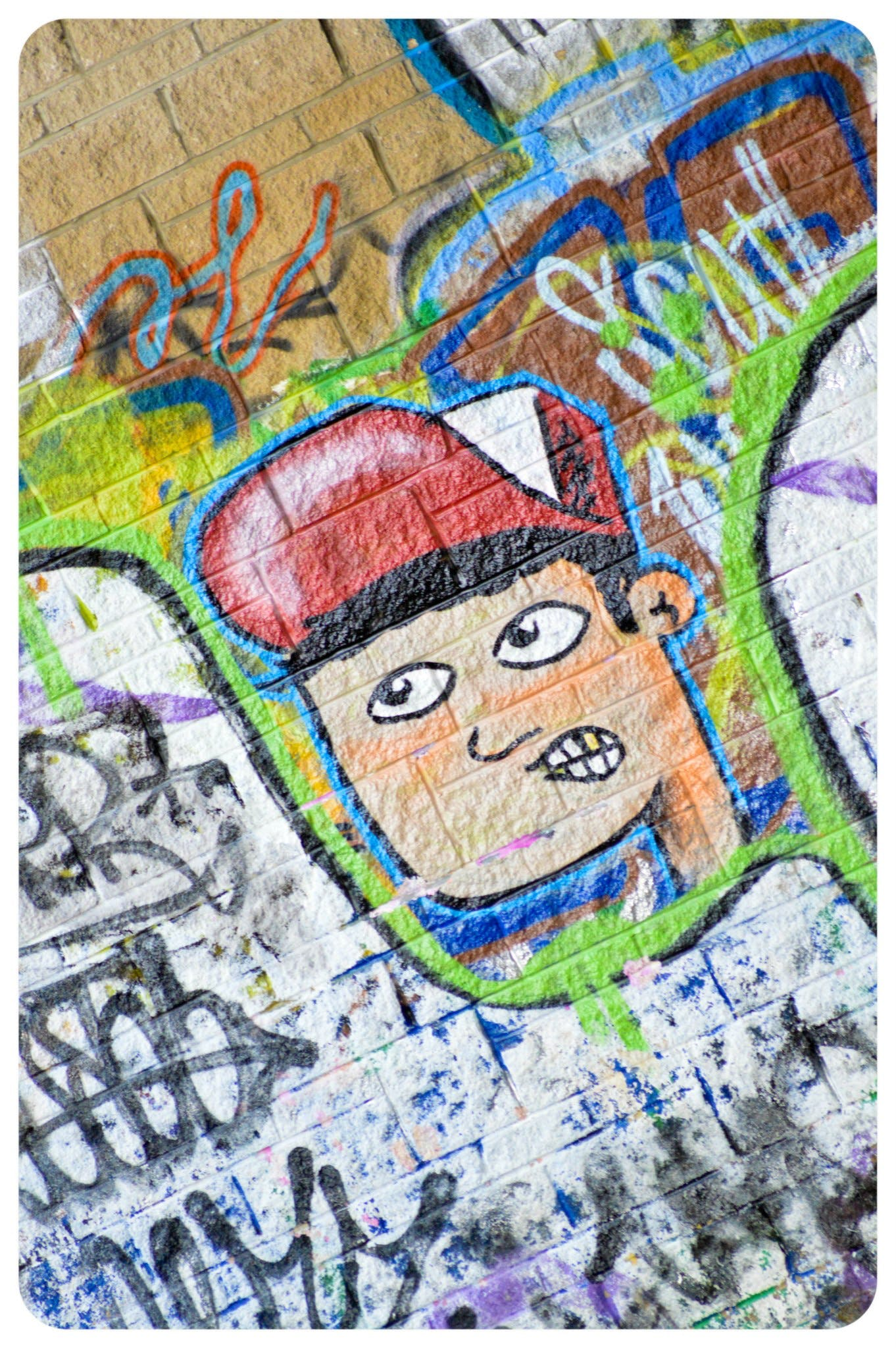 Free stock photo of face, graffiti