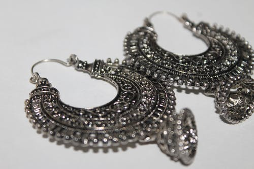 Free stock photo of indian wear earings ethnic