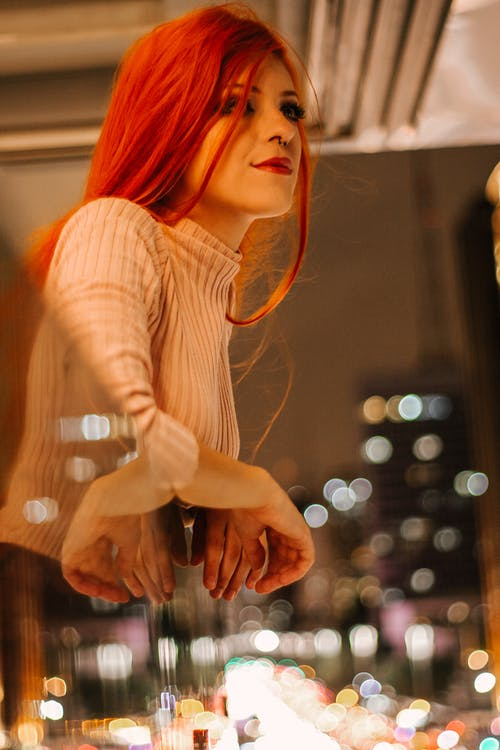 Selective Focus Photo of Woman With Red Hair