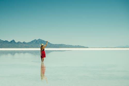 人, 休閒, 反射, 夏天 的 免费素材照片