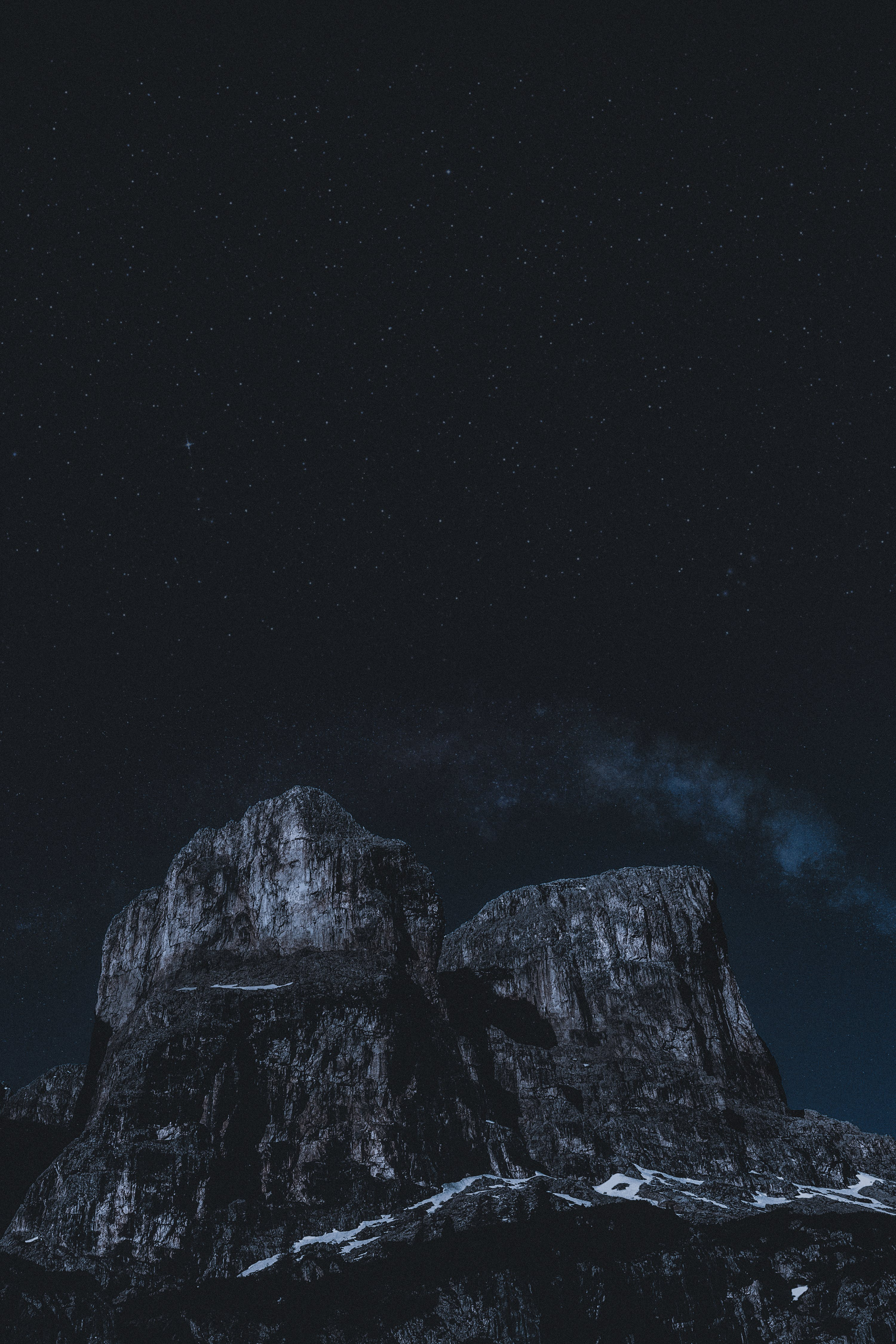 HD wallpaper с HD-обои, гора, звездное небо, звездный