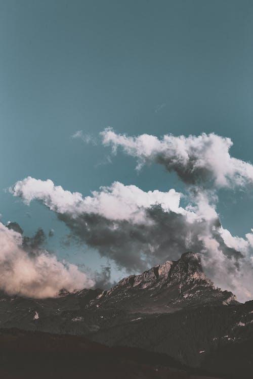 arête, chaîne de montagnes, ciel