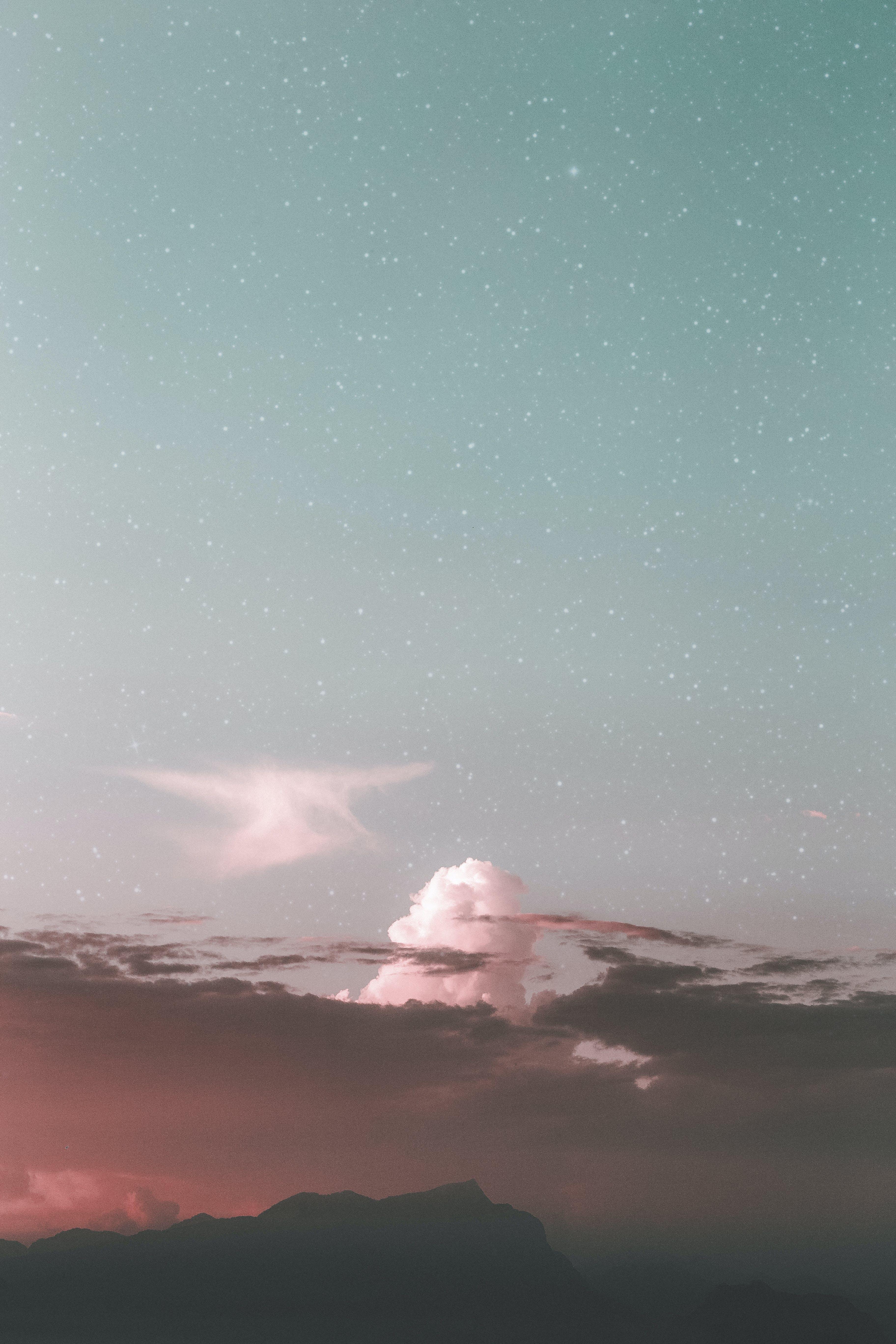 HD wallpaper с HD-обои, Астрономия, вечер, гора
