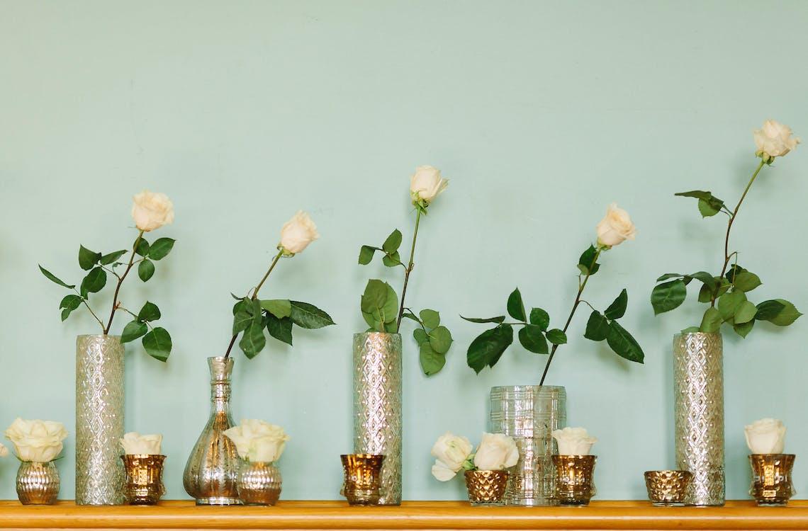 arranjo de flores, artigos de vidro, atraente