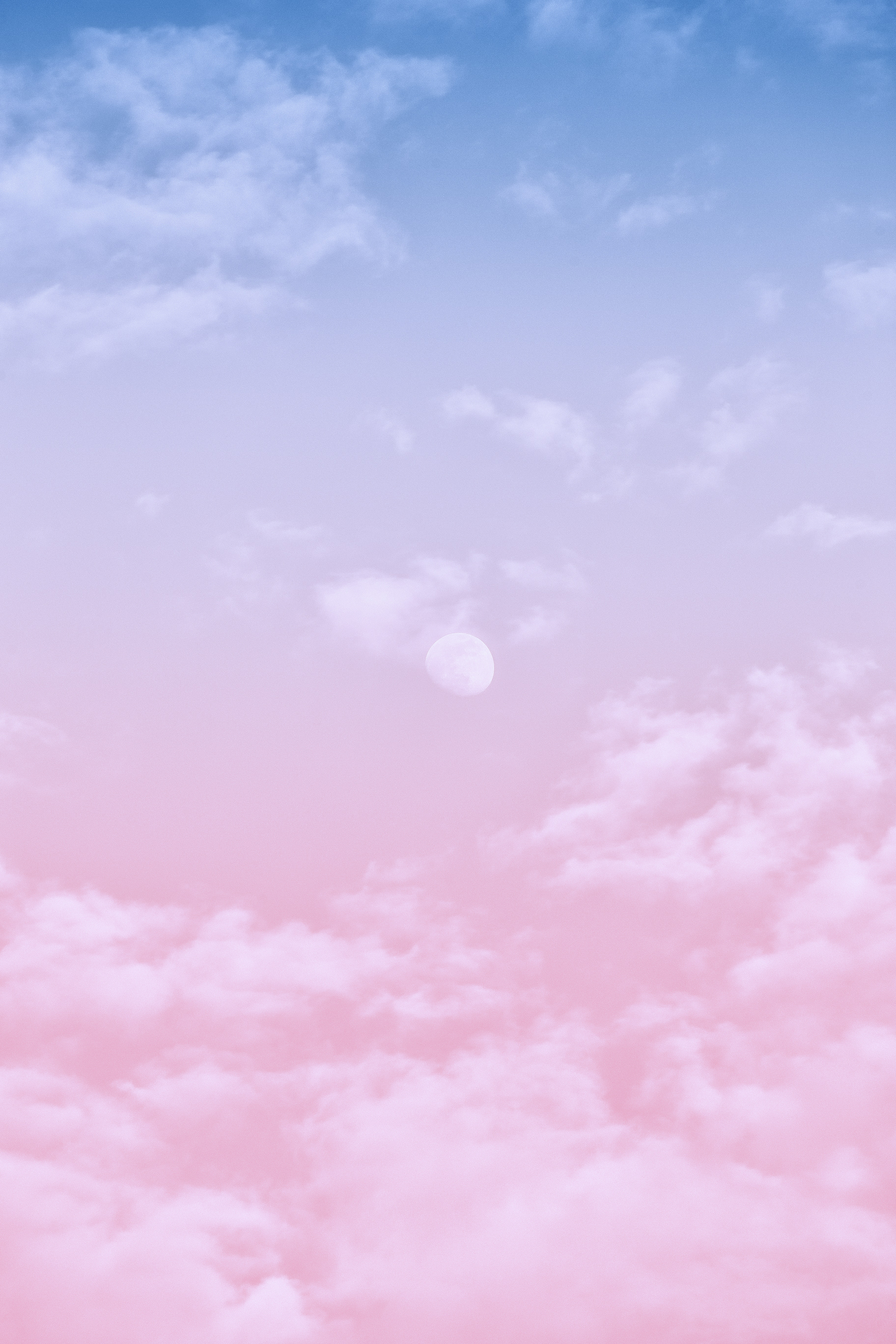 White Clouds In Pink And Blue Clouds · Free Stock