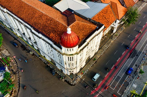 Aerial Photography of Building Near Road
