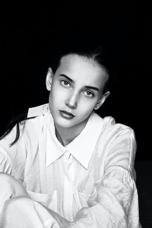 Imagine de stoc gratuită din alb-negru, chip, femeie, frumos