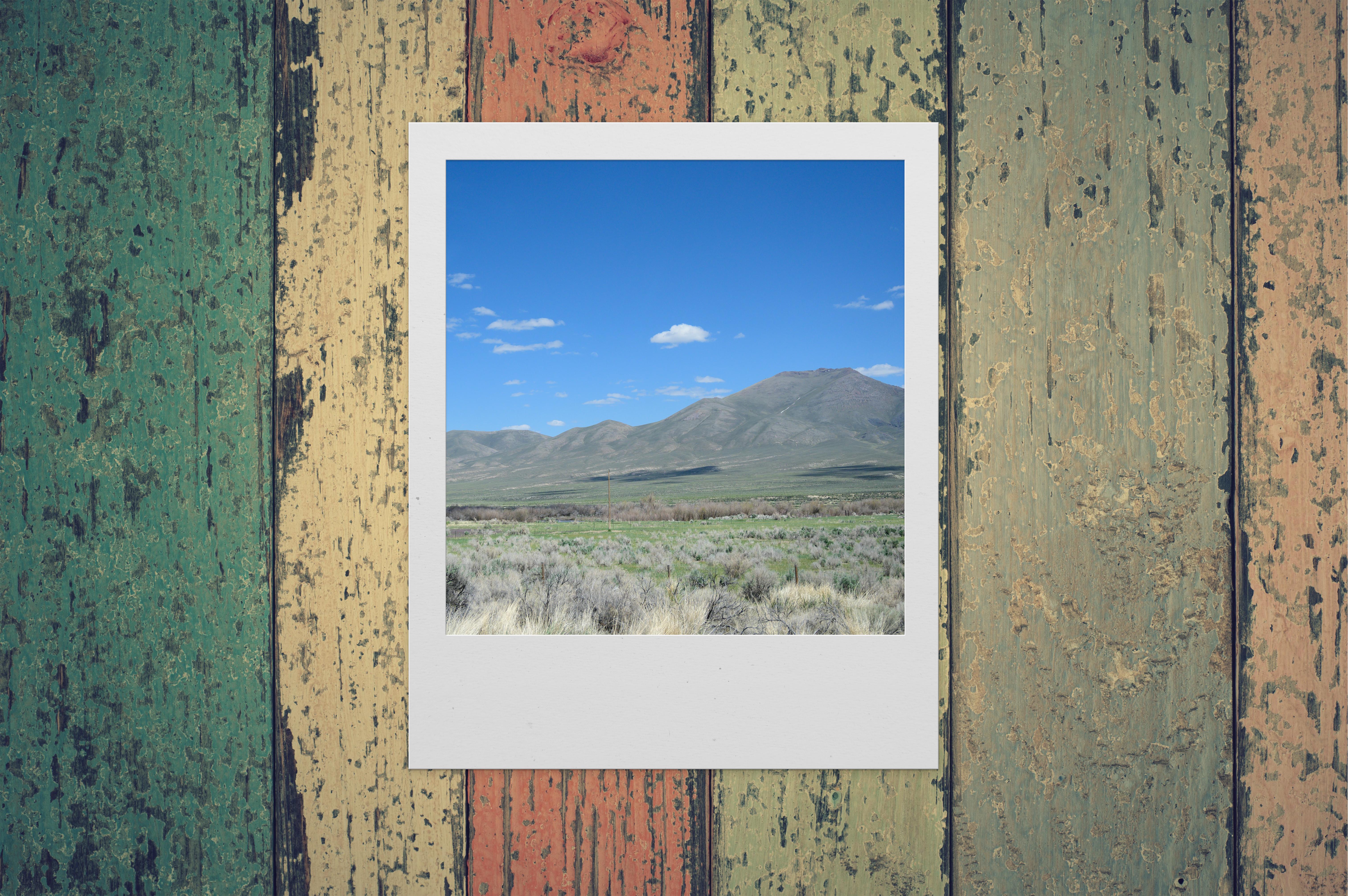 Mountain Under Blue Sky Polaroid