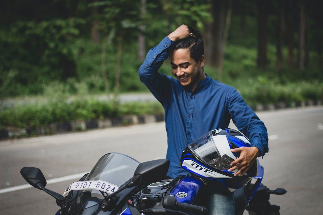 искренний, мотоцикл, мотоциклист
