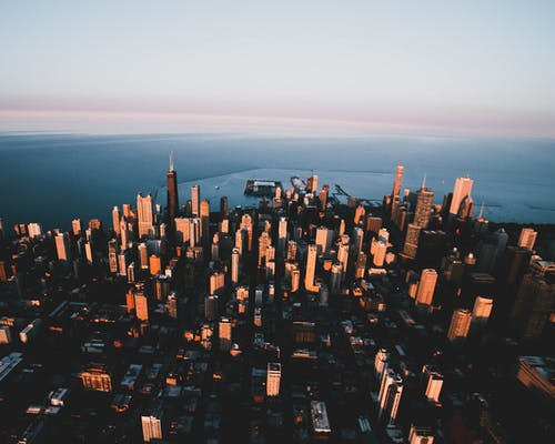Základová fotografie zdarma na téma architektura, budovy, fotka zvysokého úhlu, horizont
